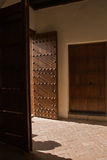 Door opening. In palace of Alhambra royalty free stock image