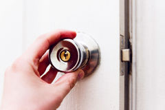 Door opening Stock Photos
