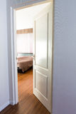 Door opening on a bedroom Stock Image