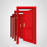 A door opens another door Royalty Free Stock Photo