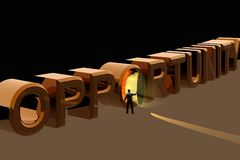 Door Of Opportunity. 3D Conceptual Rendering Royalty Free Illustration