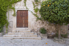 Door of the orange trees Royalty Free Stock Photos