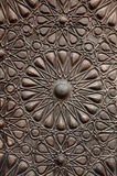 Door ornament  in Madrasa & Dome Stock Image
