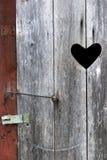 Door on outdoor toilet Stock Image