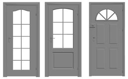 Door  outline silhouette Stock Image