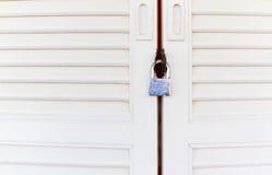 Door and padlock Royalty Free Stock Photography