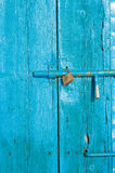 Door and padlock Stock Photography
