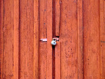 Door with padlock Stock Images