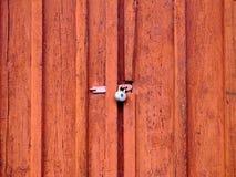 Door with padlock Stock Images