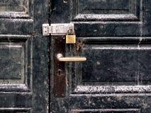 Door and padlock Royalty Free Stock Image