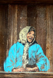 Door painting, Annah Rais, Borneo, Malaysia Royalty Free Stock Photos