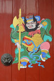 Door painting in chinese temple. The Door painting in chinese temple stock photography