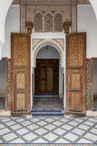 A door of the Palais de la Bahia Royalty Free Stock Images