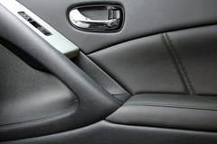 Door panel. Interior automobile door panel leather Stock Photo