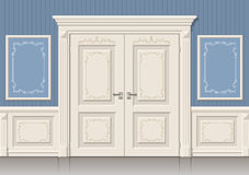 The door panels and classic Royalty Free Stock Photography