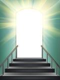 Door in paradise Stock Images