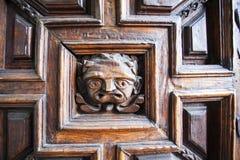Door of the Parroquia de Baslica Colegiata de Nuestra Senora de Guanajuato church in Guanajuato - Mexico North America. Door decoration of the Parroquia de stock image