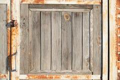 Door part. Of light grey wood Stock Photography