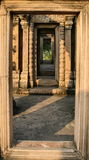 Door passage of Phra Wiharn Castle (Temple of Preah Vihear) Royalty Free Stock Image