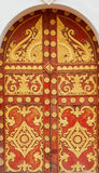 Door patterned. At temple Vientiane, Laos Stock Photo