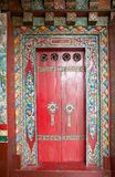 Door at the Pemayangtse Monastery, Sikkim, India Stock Image