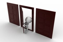 Door/ people and closed doors Royalty Free Stock Images