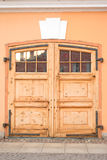 Door in Peter and Paul Fortress. Royalty Free Stock Photo