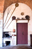 Door in Pommard Kitchen Royalty Free Stock Photography