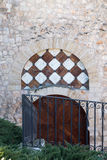 Door and railing Royalty Free Stock Image
