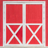 Door on red background Stock Photo