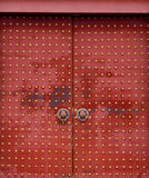 The door. Red metal gate in ancient China Royalty Free Stock Photos