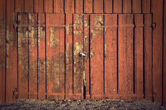 Door on red shed Stock Images