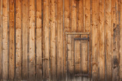 The Door at Riverwood. Vintage wooden door in wooden wall at Riverwood, Mississauga, Ontario Royalty Free Stock Image