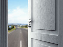 Door in road Stock Photos