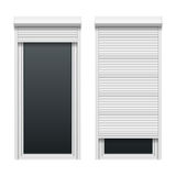 Door with roller shutters Royalty Free Stock Images