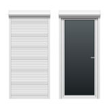 Door with rolling shutters Stock Image