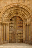 Door Romanesque Church of San Pedro, XII century, Avila, Spain Stock Image