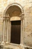 Wooden door of church stock photography