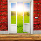 Door in the Room to Nature Stock Photography