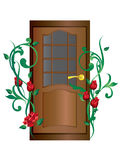 Door and roses. Stock Images