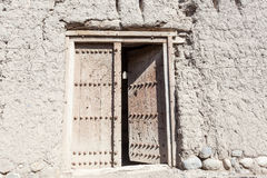 Door in a ruin of an old Omani village Stock Photography