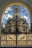 Door of russian church in Nalchik city. Royalty Free Stock Image