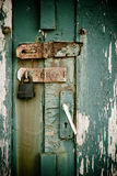 Door with rusty lock Stock Photo