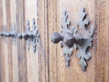 Door with rusty nails Stock Images