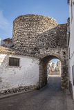 Door Sabiote. Castle Sabiote ( Province of Jaen, Spain ) was built in the thirteenth century. Finish that retains the current is not because of its inception Stock Images