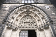 Door of Saint Peter and Paul cathedral Royalty Free Stock Image