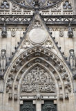 Door of Saint Vit cathedral Royalty Free Stock Image