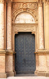 Door of Santa Maria in Montserrat, Catalonia, Spain Royalty Free Stock Image