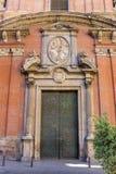Door of the Santo Tomas church in Valencia Royalty Free Stock Image