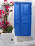 Door in Santorini Royalty Free Stock Photos